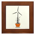Wind Flower Framed Tile