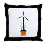 Wind Flower Throw Pillow