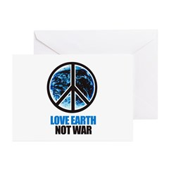 Love Earth Not War Greeting Cards (Pk of 20)