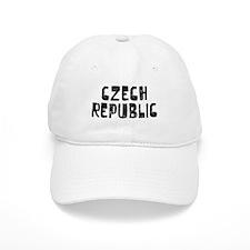 Czech Republic Faded (Black) Baseball Cap