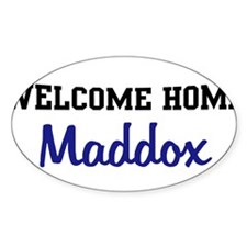 Welcome Home Maddox Oval Decal