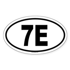 7E Oval Decal