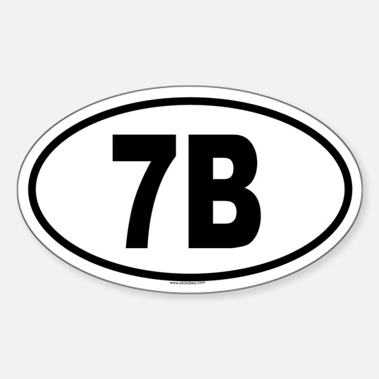 7B Oval Decal