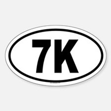 7K Oval Decal