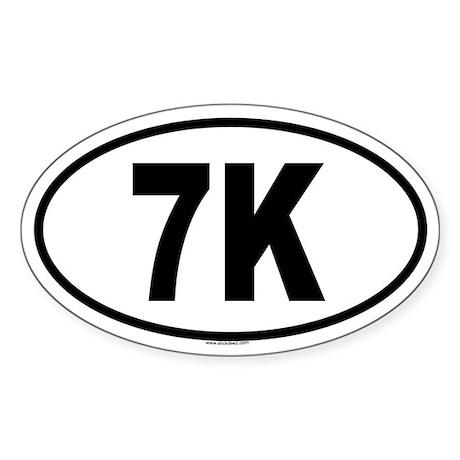 7K Oval Sticker