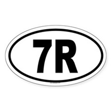 7R Oval Decal
