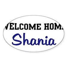 Welcome Home Shania Oval Decal