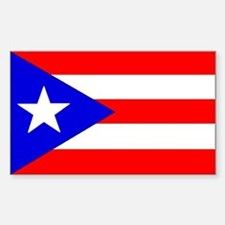 Puerto rico Rectangle Stickers