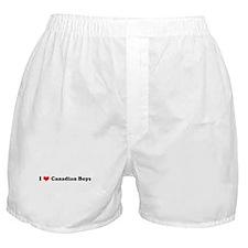 I Love Canadian Boys Boxer Shorts