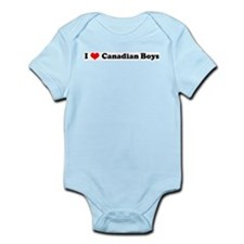 I Love Canadian Boys Infant Creeper