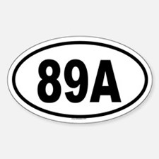89A Oval Decal
