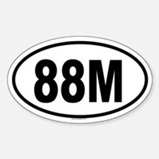 88M Oval Decal