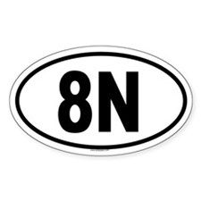 8N Oval Decal