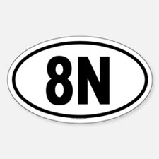 8N Oval Decal