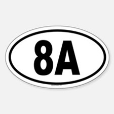 8A Oval Decal