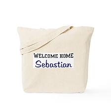 Welcome Home Sebastian Tote Bag