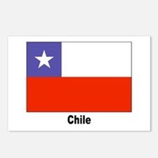 Chile Chilean Flag Postcards (Package of 8)