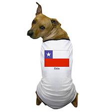 Chile Chilean Flag Dog T-Shirt