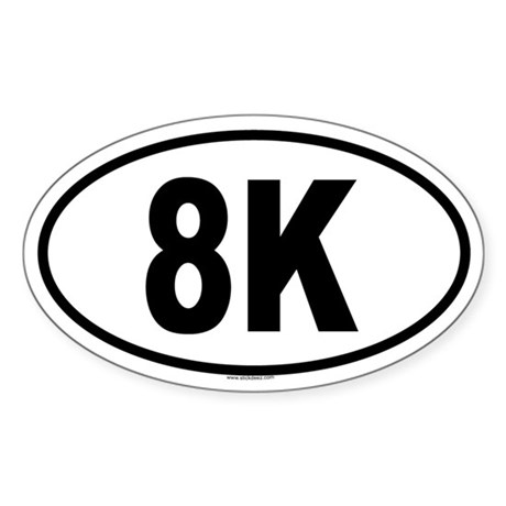 8K Oval Sticker