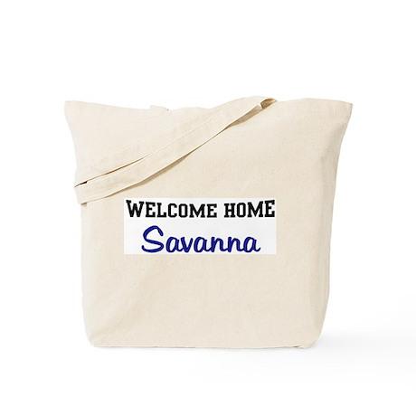 Welcome Home Savanna Tote Bag