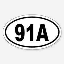 91A Oval Decal
