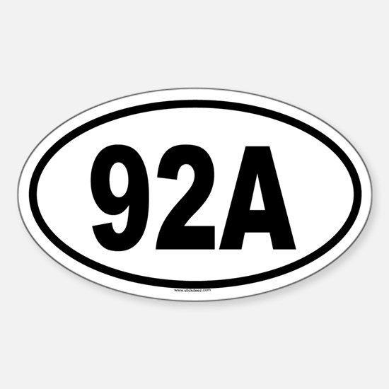 92A Oval Decal