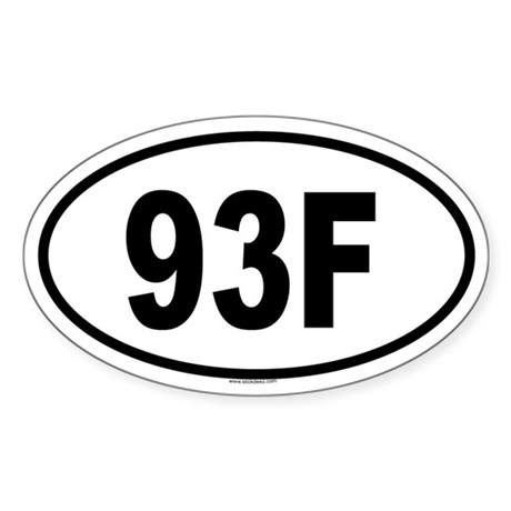 93F Oval Sticker