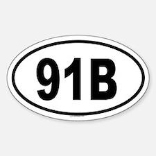 91B Oval Decal