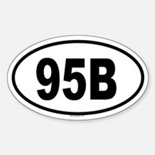 95B Oval Decal
