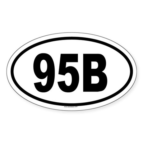 95B Oval Sticker