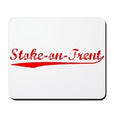 Vintage Stoke-on-T.. (Red) Mousepad