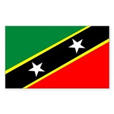 St Kitts and Nevis Rectangle Decal