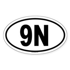 9N Oval Decal