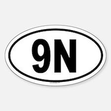 9N Oval Decal