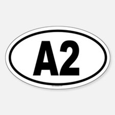 A2 Oval Decal