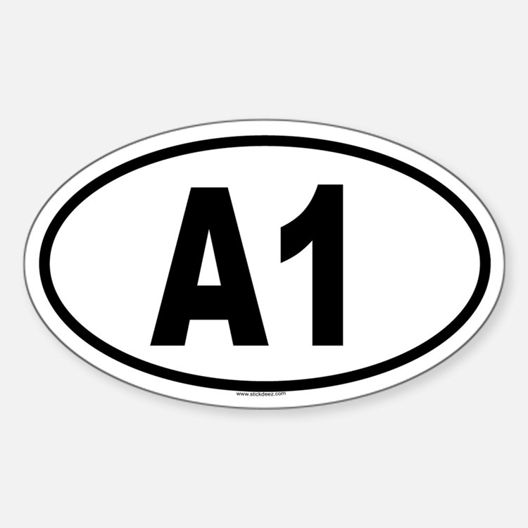 A1 Oval Decal