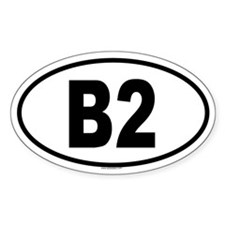 B2 Oval Decal