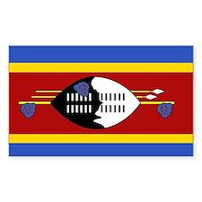 Swaziland Rectangle Decal