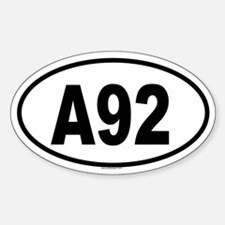 A92 Oval Decal
