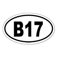 B17 Oval Decal