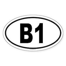 B1 Oval Decal