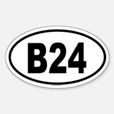 B24 Oval Decal