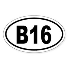 B16 Oval Decal