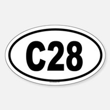 C28 Oval Decal