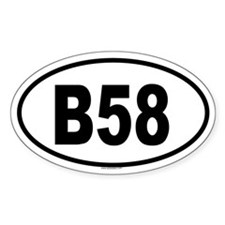 B58 Oval Decal