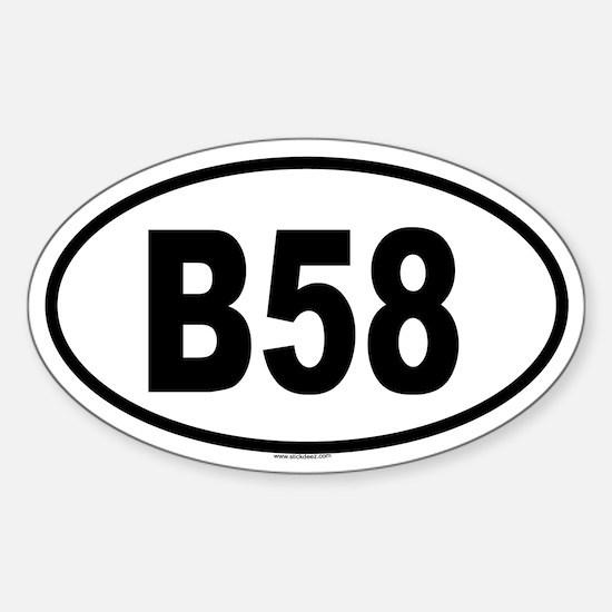 B58 Oval Decal