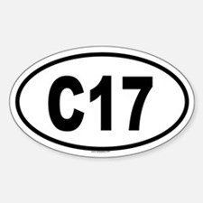 C17 Oval Decal