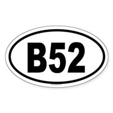 B52 Oval Decal