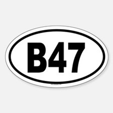 B47 Oval Decal