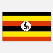 Uganda Rectangle Decal